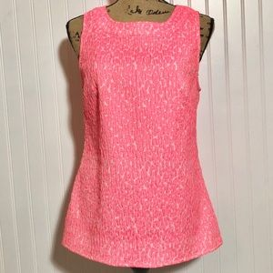 Banana Republic Pink And White Blouse Size 10